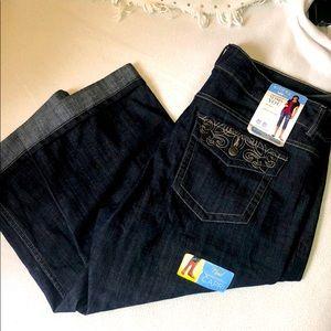 Riders Slender Stretch Capri Jeans - size 16